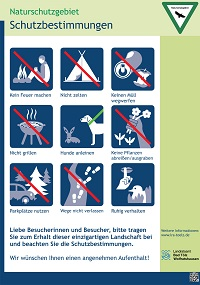 Auf einen Blick: Diese Regeln gelten im Naturschutzgebiet. #Naturschutz beginnt mit Dir.